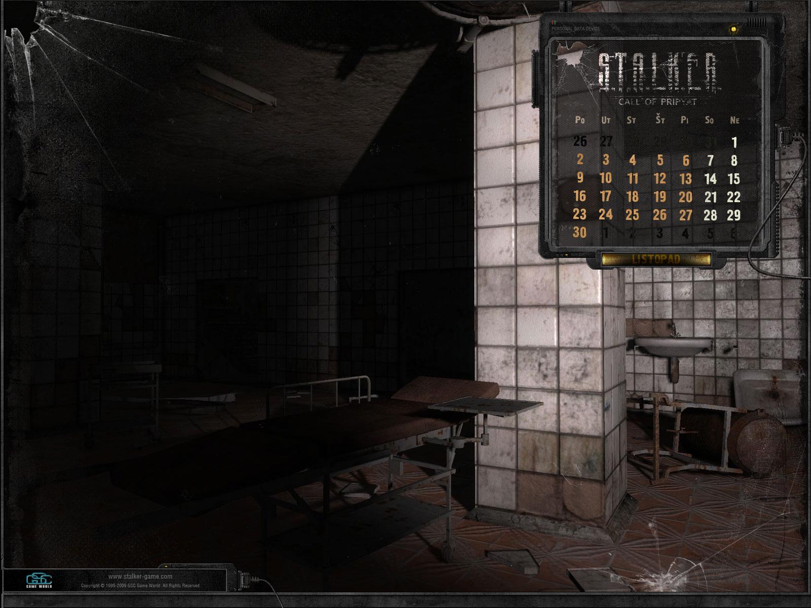 Stalker:Call of Pripyat kalendář